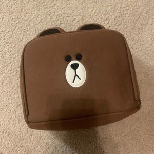 Line Friends big makeup bag